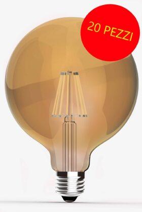 Lampadina Maxisfera vintage led filament 6,5 W - CONFEZIONE 20 PEZZI