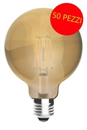 Lampadina Maxisfera vintage led filament 8 W - CONFEZIONE 50 PEZZI