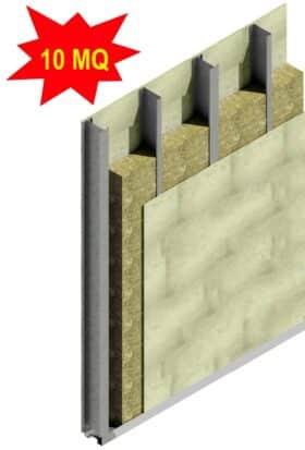 Kit ECO per realizzare 10 mq di parete esterna