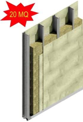 Kit PRO per realizzare 20 mq di parete esterna
