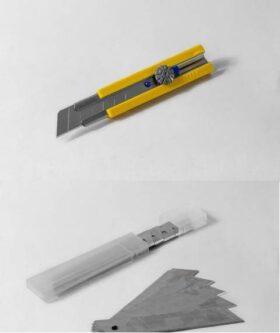 Cutter con rotella super professionale lama da 25 mm + 10 lame di ricambio