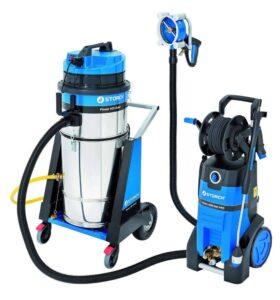 Apparecchio ad alta pressione con idropulitrice per pulire e sverniciare senza schizzi Storch