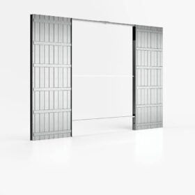 Controtelaio porta scorrevole doppia anta per cartongesso luce passaggio 180x210 cm parete 100 mm ermetika evolution