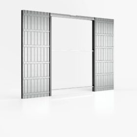 Controtelaio porta scorrevole doppia anta filo muro 120x210 cm per cartongesso parete 100 mm ermetika absolute evo
