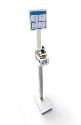 Porta dispenser da terra per dosatori gel mani 500 ml