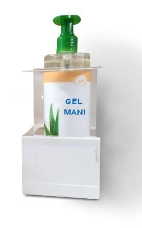 Porta dispenser da muro per dosatori gel mani 500 ml