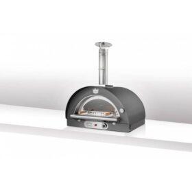 Forno a gas per pizza da esterno refrattario verniciato Clementi Familiy - Antracite