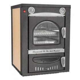 Forno a legna da incasso esterno cottura indiretta camera cottura 40x50x36 cm Clementi Smile