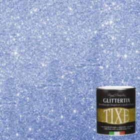 Glitter per pittura pareti in emulsione neutra Tixe Glittertix Blu 250 ml
