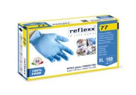 Guanti in nitrile monouso senza polvere per alimenti Reflexx 77 Food Line gr.3 TAGLIA XL 100 PZ